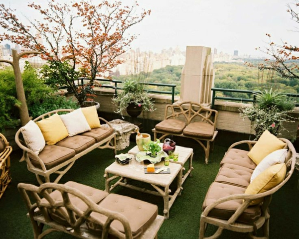 stylish terrace design interesting ideas