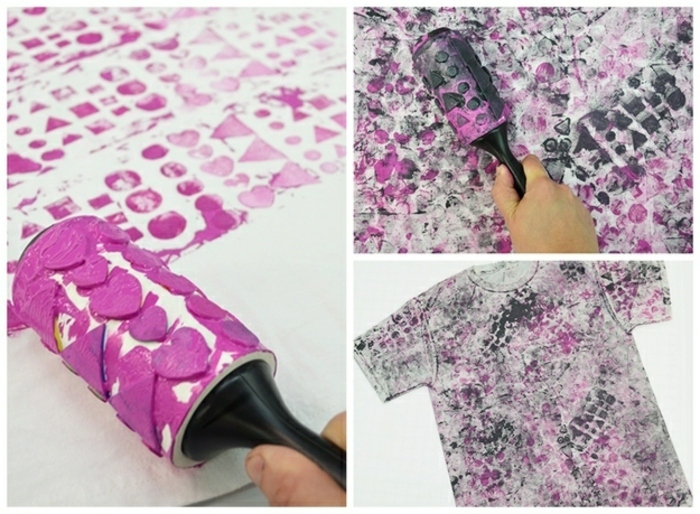 stamp make yourself erase black white t shirt fabric heart