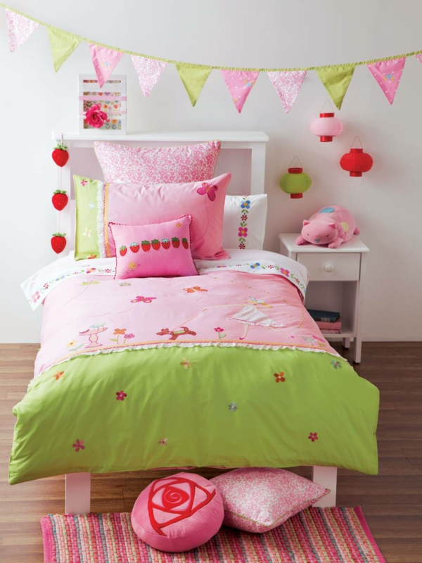 children's room decorate colored bed linen fresh