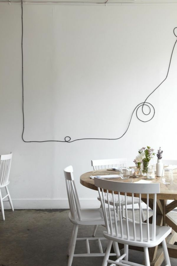 do it yourself deco loose wall decoration black cable