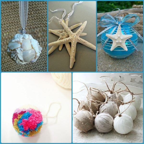 Christmas tree decorations craft ideas in maritime style