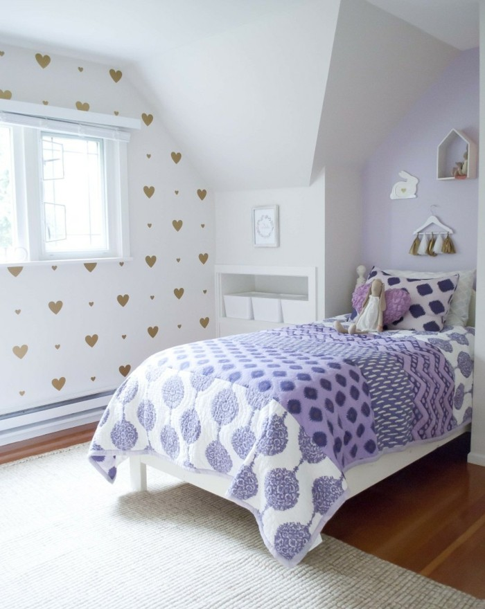 valentines day ideas girls room wall decals hearts