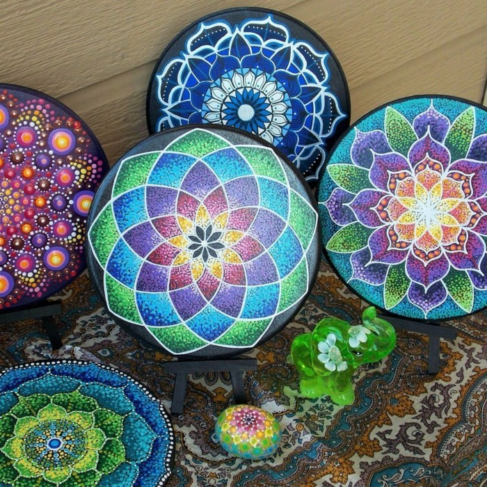 Manala pattern stones painted mandala pictures