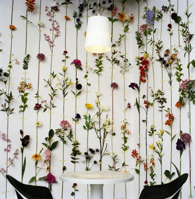 Decoration ideas floral wallpaper