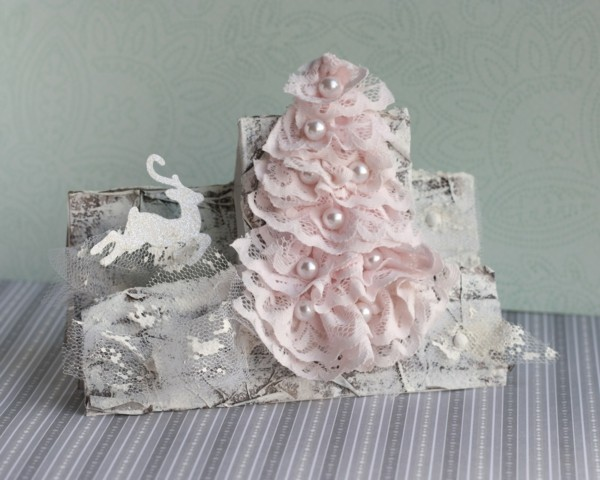 shabby chic deco itself make christmas decorations