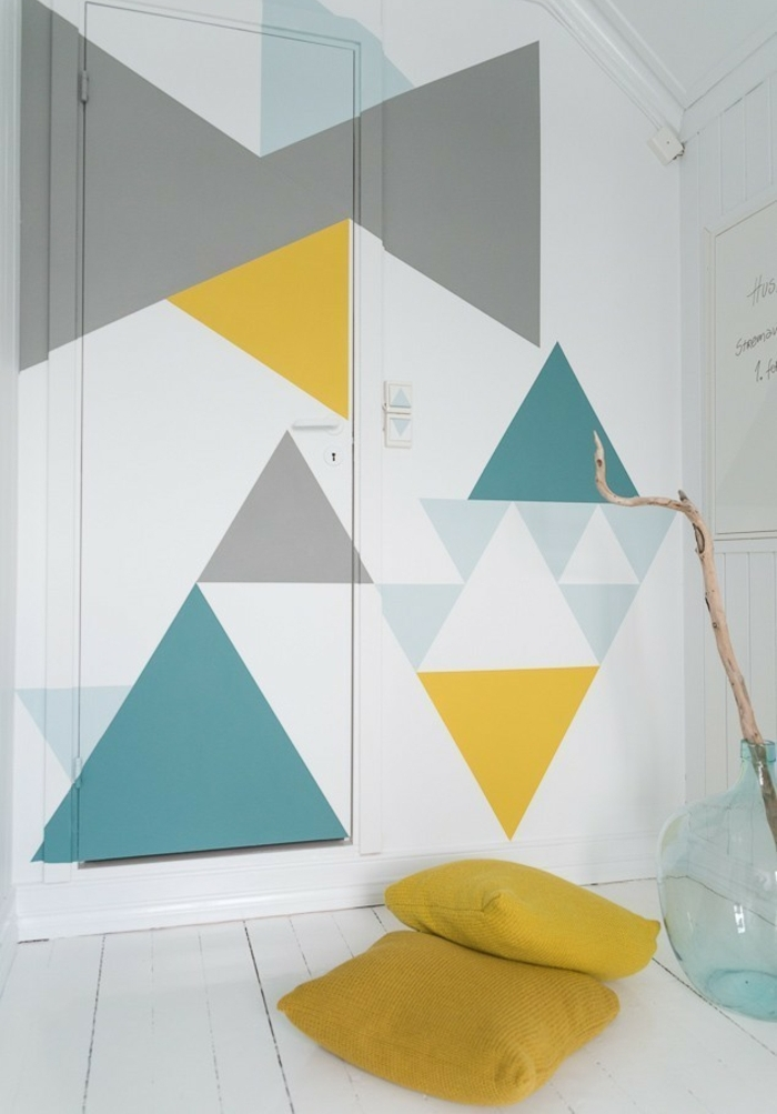 wall decoration ideas diy wall decoration colorful triangles