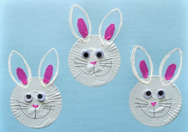 crafting easter bunnies from cakes tinker
