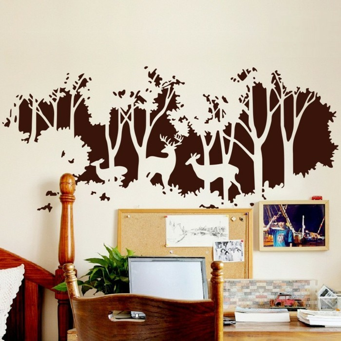 walls decorating wall decals forest workplace