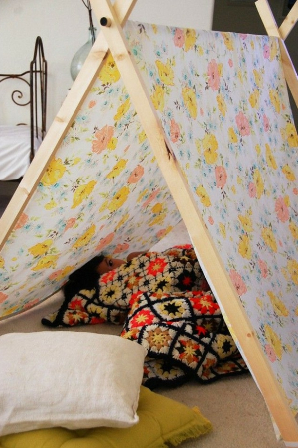 playful tents for children flowers