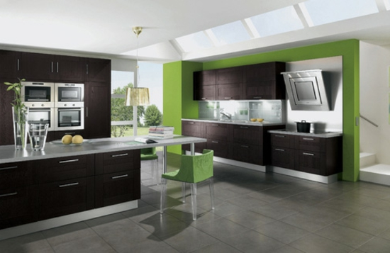color ideas for kitchen green fresh wood wall paint