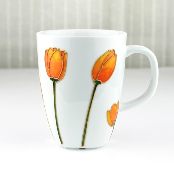 cups painted orange owls-resized