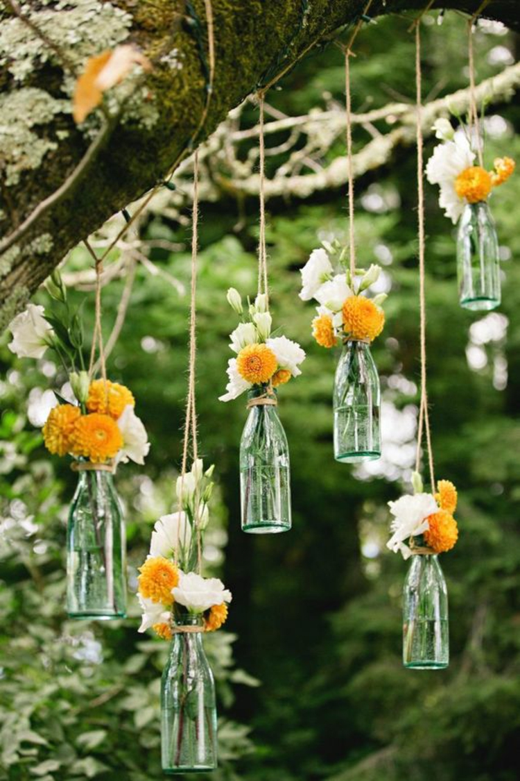 Table Decoration Garden Party Deco itself make hanging bottles