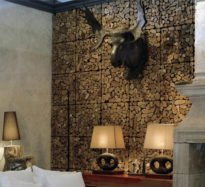 Wall design wooden wall tips