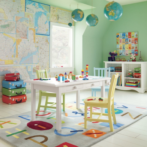 baby room shape letters globe