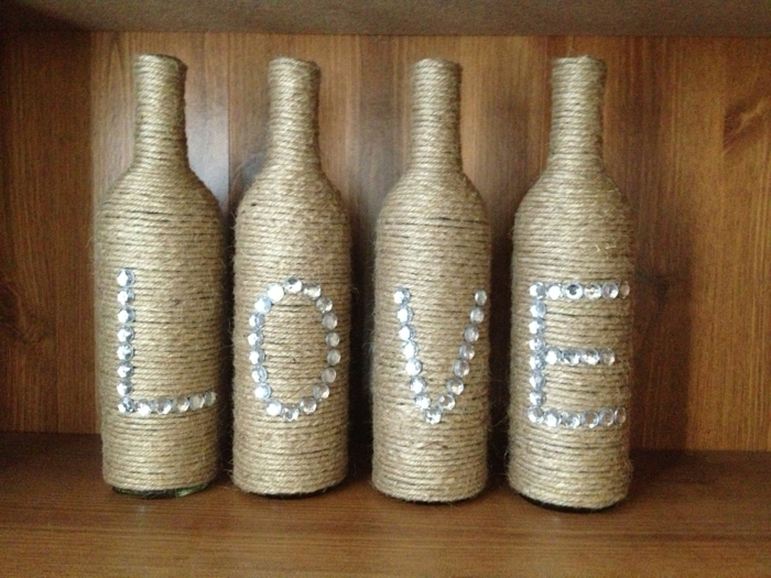 diy ideas bottles reuse thread decorate embassy