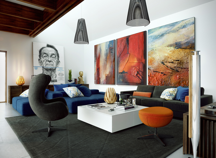 large murals for the living room wall