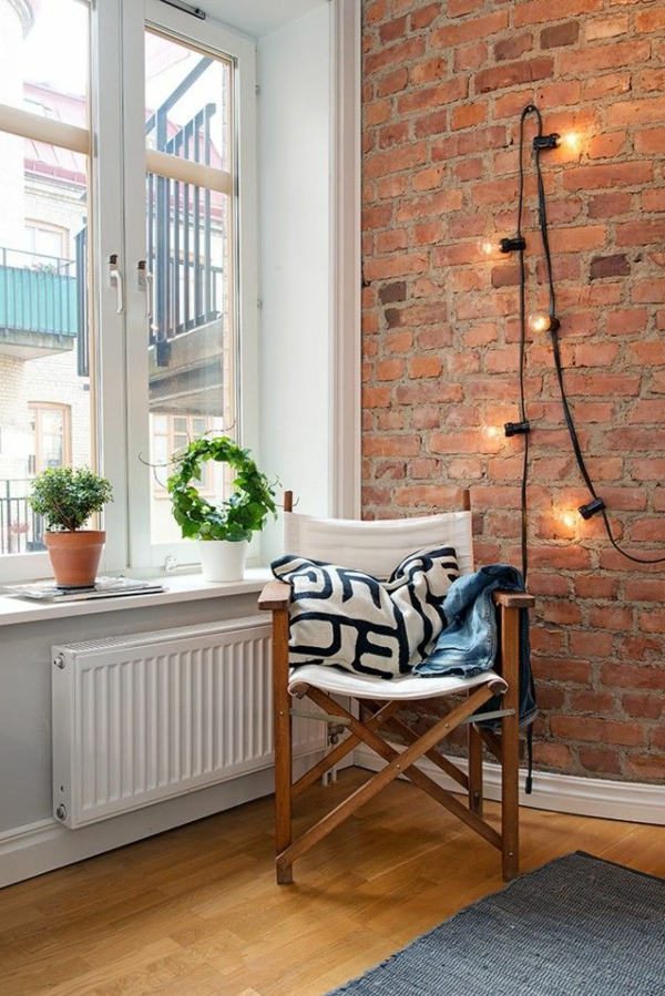 beautiful home decor window sill decorate brick wall