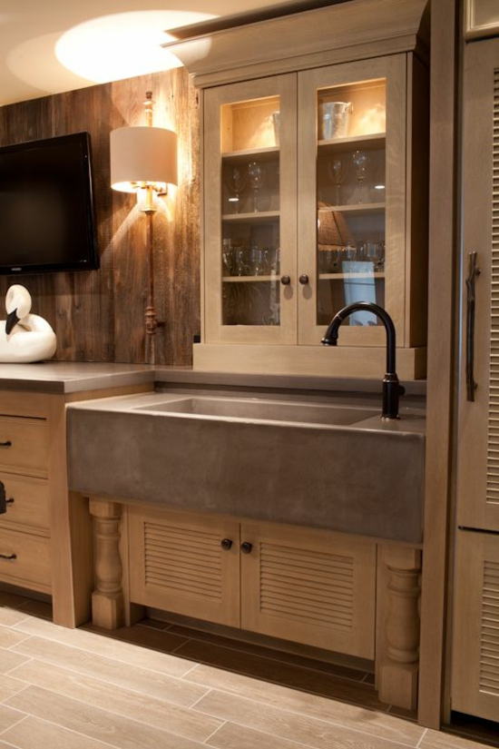 modern kitchen kitchen sink work surface cabinet wood