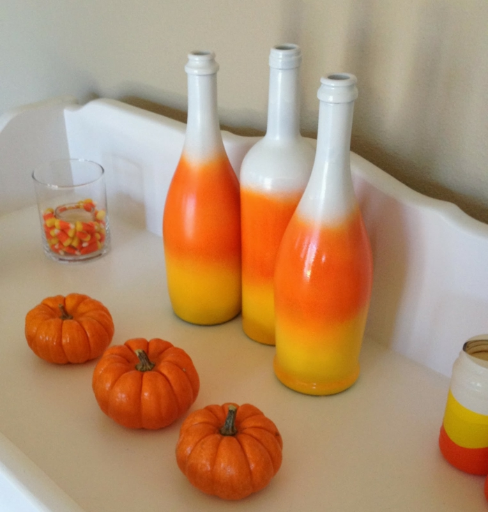 deco bottles decorate warm colors halloween