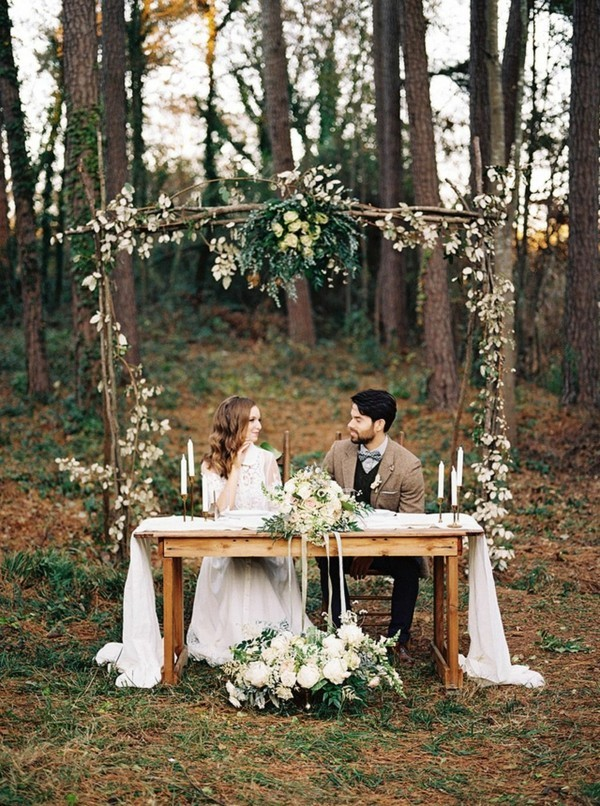 wedding trends 2018 forest wedding decoration
