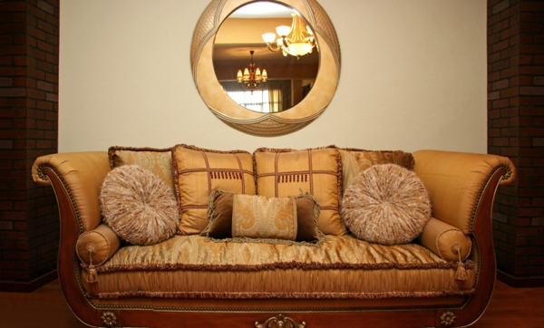 noble cheap sofa in gold