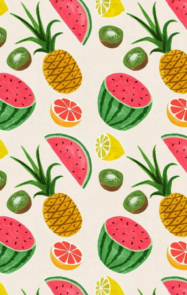 wallpaper pattern fruits refresh the walls