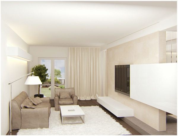 gorgeous modern living room design lamp couch sofa rug white