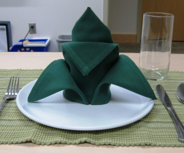 origami napkins folding technique flower