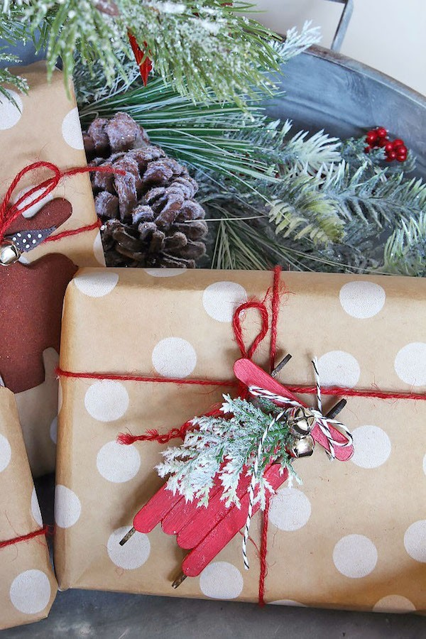 diy christmas decoration as a gift