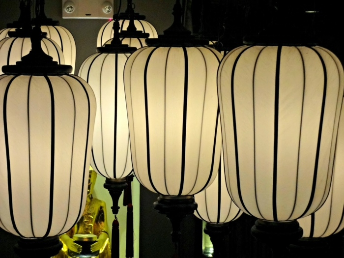 oriental lamps thai design vaulted oval shapes