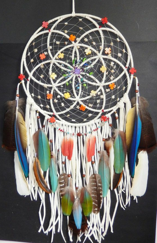 dream catcher make your own colorful feathers
