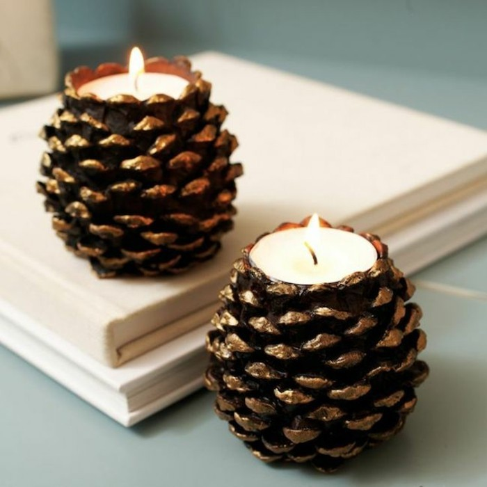 tinker christmas diy deco candles