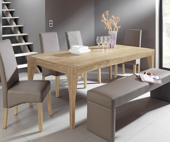 Interior design dining table Dining room Solid wood