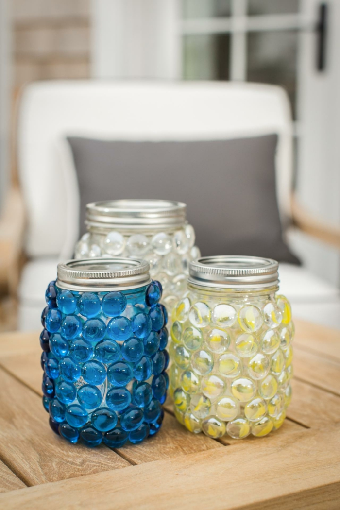 Decorating ideas for the garden Mason jars and making beautiful wind lights