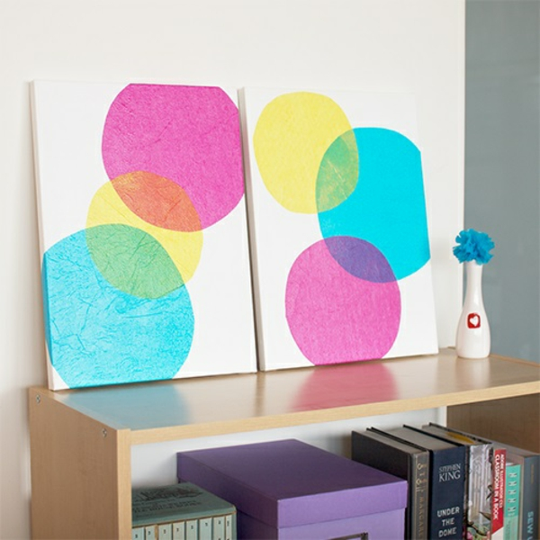Create canvas prints yourself diy circles colorful