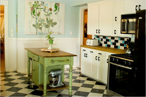 Portable great kitchen islands flooring green