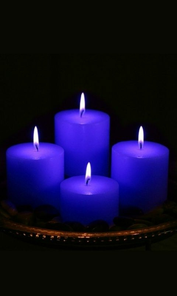 beautiful deco blue candles home ideas