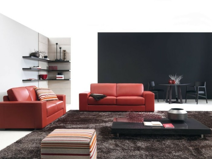 brown leather sofa in scene 20