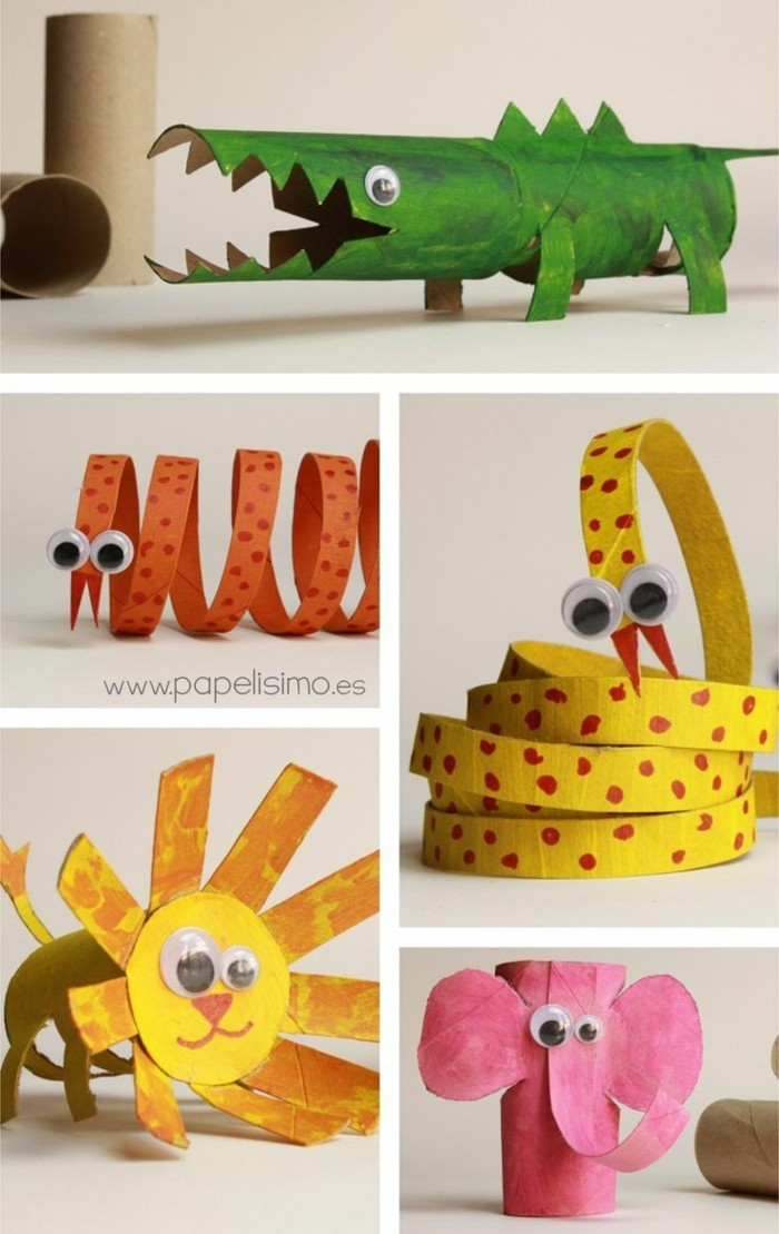making autumn with children make autumn decoration yourself with paper towels rolling animals