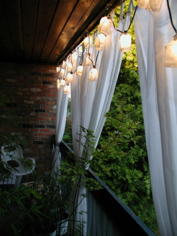 balcony ideas lichtdeko lighting design