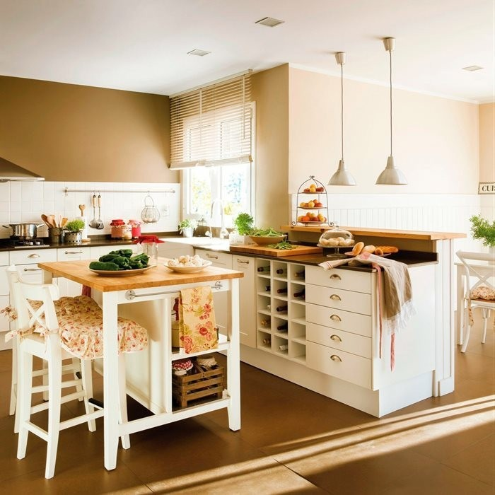 open concept for kitchen island