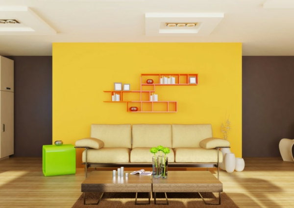 wall colors combinations yellow gray combination