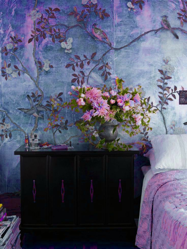 wallpaper pattern bedroom walls dress up plants