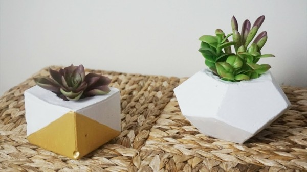 DIY planter geoemtric shapes