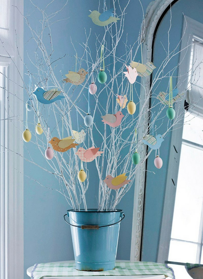 easter decoration creative craft easter easter eggs twigs easter chicks