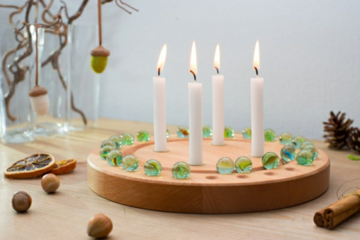 minimalistic diy advent wreath