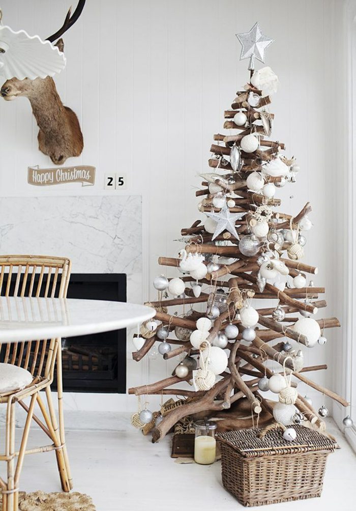 christmas decorations scandinavian style rustic christmas tree fireplace accessories
