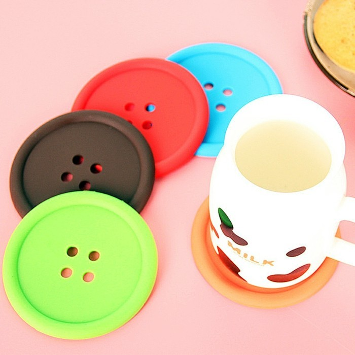 Coasters buttons in different colors
