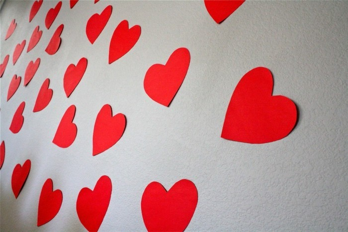 all the love for valentines red hearts wall decoration