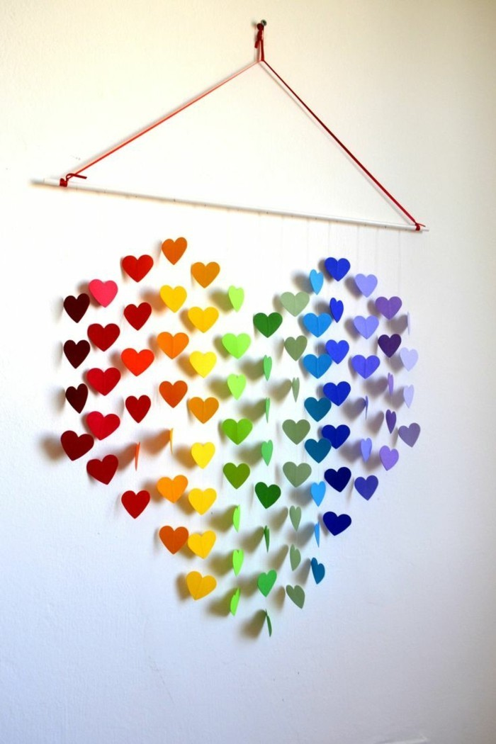 all the best for valentines paper hearts colored heart